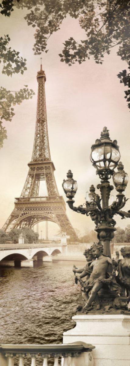 Фотообои Твоя планета Парижский этюд, 97 х 272 см, 4 листа4607161058145Фотообои - это полотна бумаги, на которые фотографическим способом нанесены фрагменты больших картин, чаще всего, с изображением ландшафтов и пейзажей. Сюжет может состоять как из двух кусков, которые обычно клеятся на дверь, так и из четырех и более. Такой вариант предназначен для оформления целой стены или даже потолка. Фотообои имеют определенные размеры, от которых зависит их назначение. Так, существуют фотообои, которые предназначены для оклейки стен в помещении, как полностью, то есть от пола до потолка, так и частично, например, до середины стены. Ну, а для оформления дверей предназначены специальные узкие фотообои.