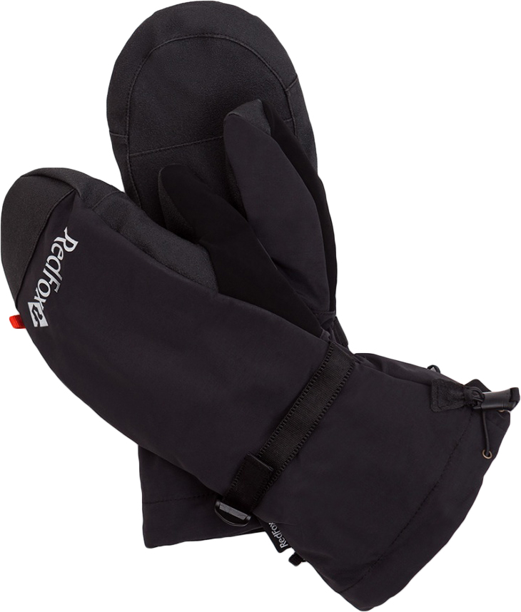 Варежки Red Fox, цвет: черный. 81-319-1000-L. Размер L (23,5/25,5)81-319-1000-LДвойные рукавицы с синтетическим утеплителем Red Fox выполнены из нейлона: внутренняя теплая рукавица с утеплителем Thinsulate и съемная внешняя рукавица из прочной ткани. Удлиненная форма полностью закрывает запястье, эластичная затяжка по краю краги предотвращает попадание снега. Модель дополнена усилением в области ладони.