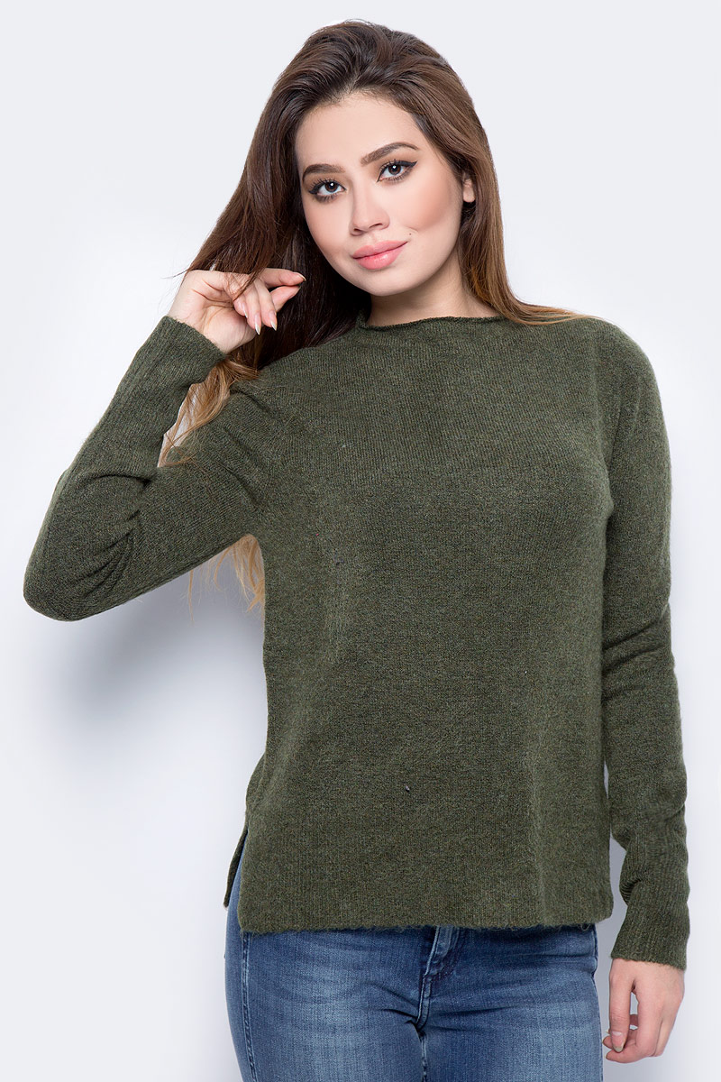 Джемпер женский Tom Tailor, цвет: зеленый. 3055033.99.71_7613. Размер S (44) брюки мужские tom tailor цвет зеленый 6855008 00 12 7807 размер l 50