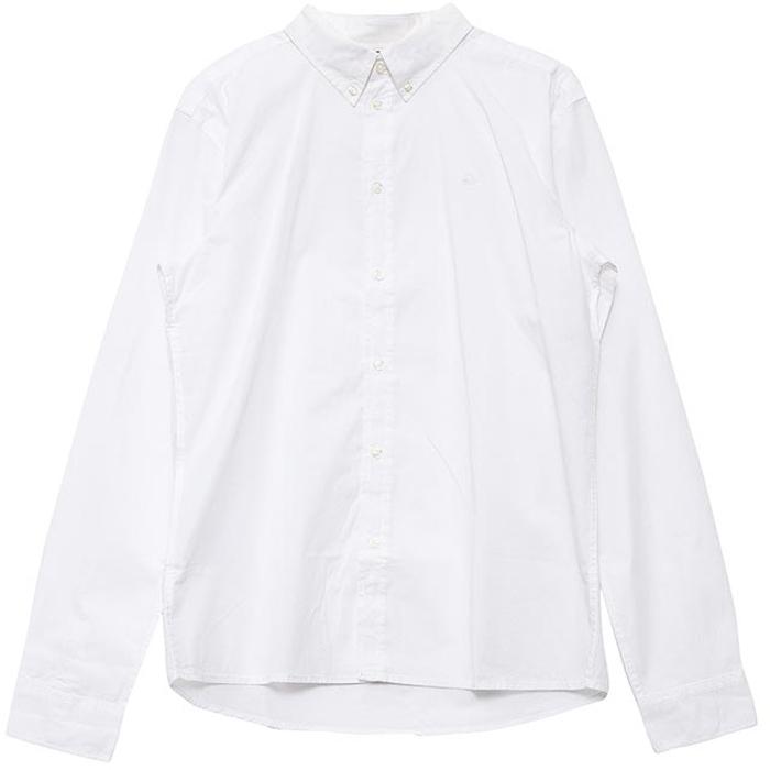 Рубашка для мальчиков United Colors of Benetton, цвет: белый. 5EW75Q600_101. Размер 1605EW75Q600_101Рубашка для мальчика United Colors of Benetton выполнена из натурального хлопка. Модель с отложным воротником и длинными рукавами застегивается на пуговицы.