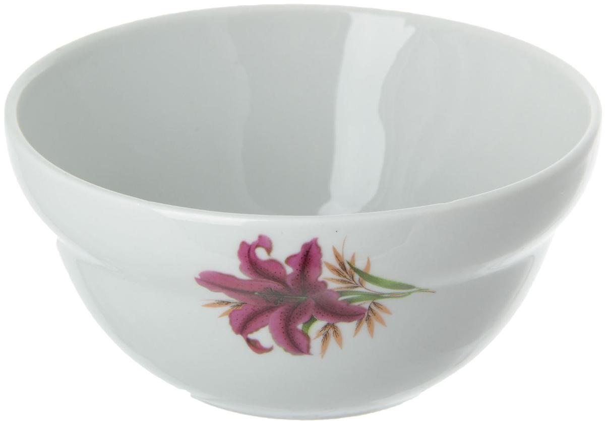 Салатник Фарфор Вербилок Розовая лилия, 360 мл. 515082 кружка фарфор вербилок розовая лилия 200 мл
