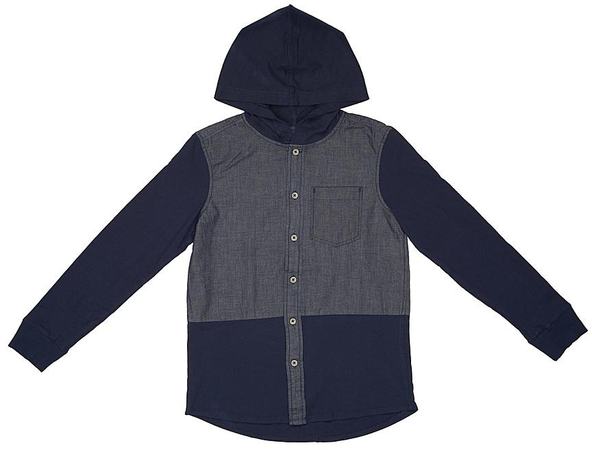 Рубашка для мальчика United Colors of Benetton, цвет: синий. 5BL05Q9X0_13C. Размер 1405BL05Q9X0_13CРубашка для мальчика United Colors of Benetton выполнена из натурального хлопка. Модель с капюшоном и длинными рукавами застегивается на пуговицы.