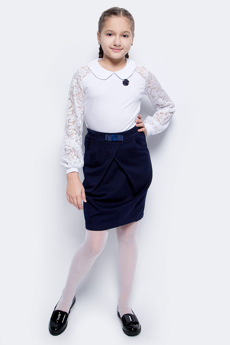 Блузка для девочки Nota Bene, цвет: белый. CJR270481B01. Размер 152 рубашка для девочки nota bene цвет белый cwr27023b01 размер 152
