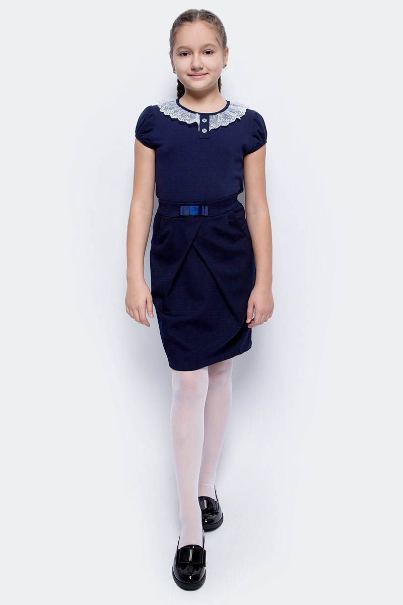 джемпер для мальчика nota bene цвет темно синий cjk17017b29 размер 164 Блузка для девочки Nota Bene, цвет: темно-синий. CJR27032B29. Размер 164