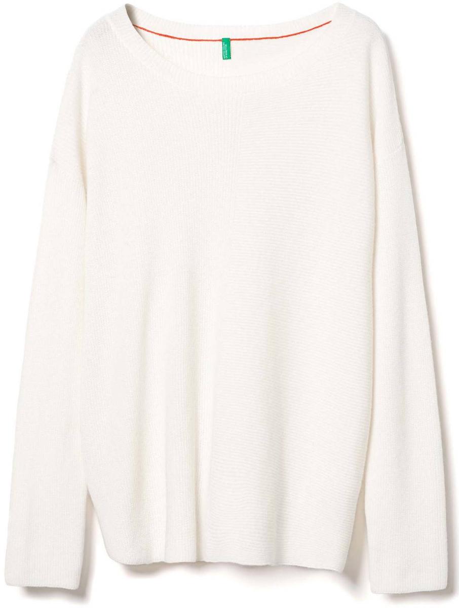 Купить Джемпер женский United Colors of Benetton, цвет: белый. 1040D1D35_036. Размер XS (40/42)