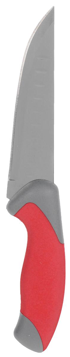 Нож кухонный Доляна Брайт, длина лезвия 15 см. 18458951845895Нож кухонный Доляна Брайт удобен и легок в использовании. Острое лезвие, выполненное из стали, не подвергается коррозии и появлению ржавчины, долгое время не требует заточки. Оно устойчиво к появлению царапин, сохраняет свежий вкус пищи, не оставляет неприятного послевкусия, не впитывает запахи продуктов. Самые тонкие ломтики не прилипнут к лезвию во время нарезки. Рукоятка выполнена из пластика. Нож обладает высокими гигиеническими показателями. Длина лезвия: 15 см.