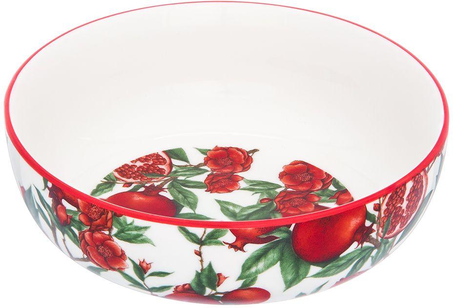 Салатник Elan Gallery Гранаты, 14 х 14 х 5 см101321Салатник Elan Gallery, изготовленный из высококачественного фарфора, оригинально украсит ваш стол или кухню. Прекрасно подойдет для подачи различных блюд: закусок и салатов. Также может использоваться в качестве фруктовницы и конфетницы.Такой салатник украсит ваш праздничный или обеденный стол, а оригинальное исполнение понравится любой хозяйке.Не рекомендуется применять абразивные моющие средства. Не использовать в микроволновой печи.