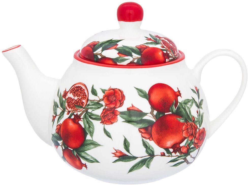 Чайник Elan Gallery Гранаты, 800 мл101322Изящный вместительный чайник объемом 800 мл удобной ручкой и широким носиком.В основании носика сделаны фильтрующие отверстия от попадания чаинок в чашку. Изделие имеет подарочную упаковку.