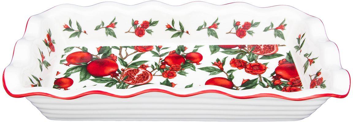 Блюдо для заливного Elan Gallery Гранаты, 27 х 15 х 4,5 см блюда elan gallery блюдо для нарезки плетистая роза