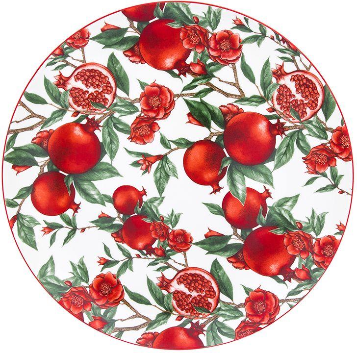 Блюдо Elan Gallery Гранаты, 26 х 26 х 2,5 см блюда elan gallery блюдо для нарезки плетистая роза