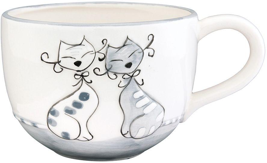 Кружка Elan Gallery Влюбленные коты на сером, 550 млРП-9265-2372Трогательная кружка объемом 550 мл в нежных тонах в подарочной упаковке с ленточкой! Идеальный подарок для взрослых и детей.