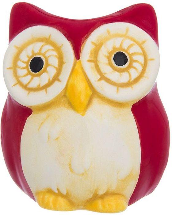 Вазочка под зубочистки Elan Gallery Сова, цвет: красный, 5 х 5 х 6 см110910Керамическая вазочка под зубочистки Elan Gallery Сова выполненная в форме симпатичного совенка, придется по вкусу любой хозяйке. Размер: 5 х 5 х 6 см.