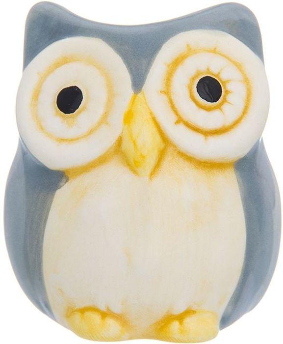 Вазочка под зубочистки Elan Gallery Сова, цвет: серый, 5 х 5 х 6 см110911Керамическая вазочка под зубочистки в форме симпатичного слоника, придется по вкусу любой хозяйке. Изделие имеет подарочную упаковку с бантиком.