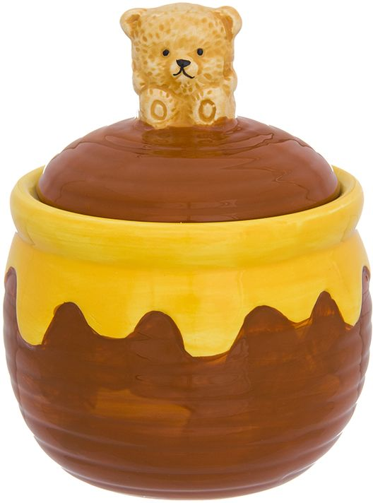 Горшочек для меда Elan Gallery Мишка косолапый. Лапки, 380 мл органайзеры на мойку elan gallery подставка для губки маки