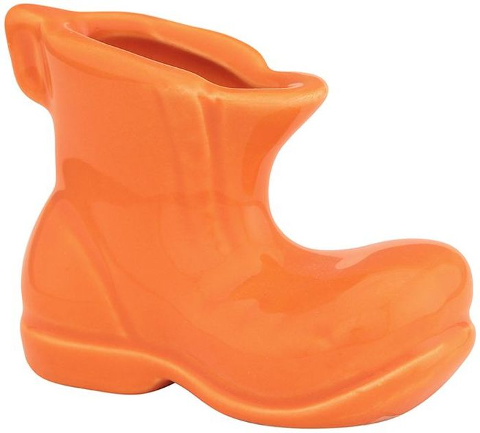 Вазочка под зубочистки Elan Gallery Башмачок, цвет: оранжевый, 7 х 3,5 х 5 см элан галерея вазочка под зубочистки 5 3 5 5 см обезьянки на удачу на бирюзовом