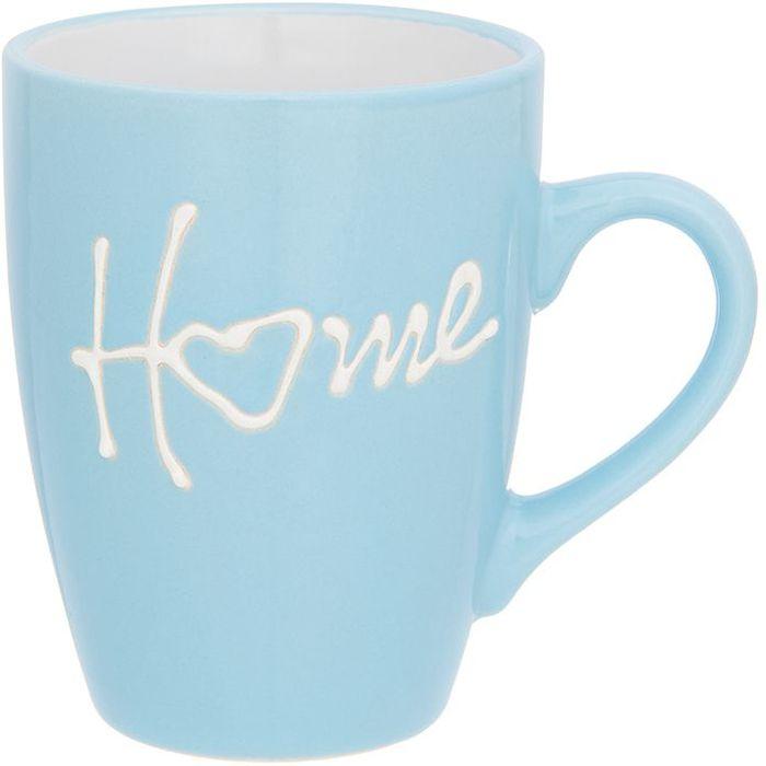Кружка Elan Gallery Дом, цвет: голубой, 330 мл130009Кружка классической формы объемом 330 мл с удобной ручкой. Подходят для любых горячих и холодных напитков, чая, кофе, какао. Изделие имеет подарочную упаковку, поэтому станет желанным подарком для ваших близких!
