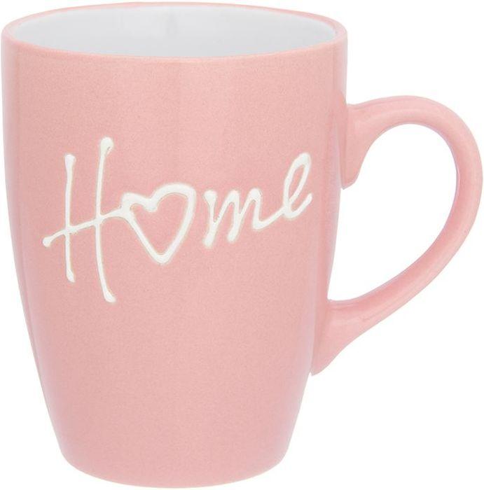Кружка Elan Gallery Дом, цвет: розовый, 330 мл130010Кружка классической формы объемом 330 мл с удобной ручкой. Подходят для любых горячих и холодных напитков, чая, кофе, какао. Изделие имеет подарочную упаковку, поэтому станет желанным подарком для ваших близких!