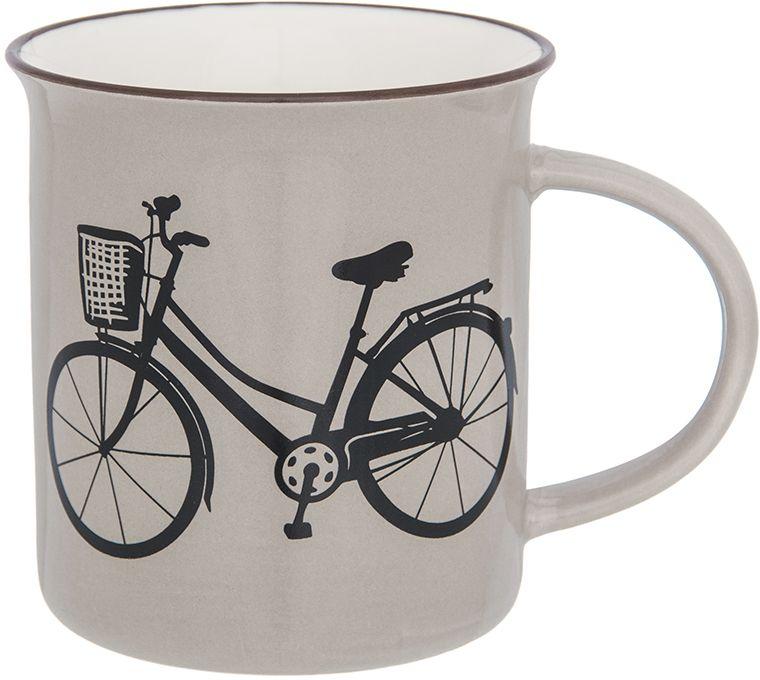 Кружка Elan Gallery Велосипед, цвет: капучино, 320 мл130015Фарфоровая кружка классической формы объемом 320 мл с удобной ручкой. Подходит для любых горячих и холодных напитков, чая, кофе, какао.