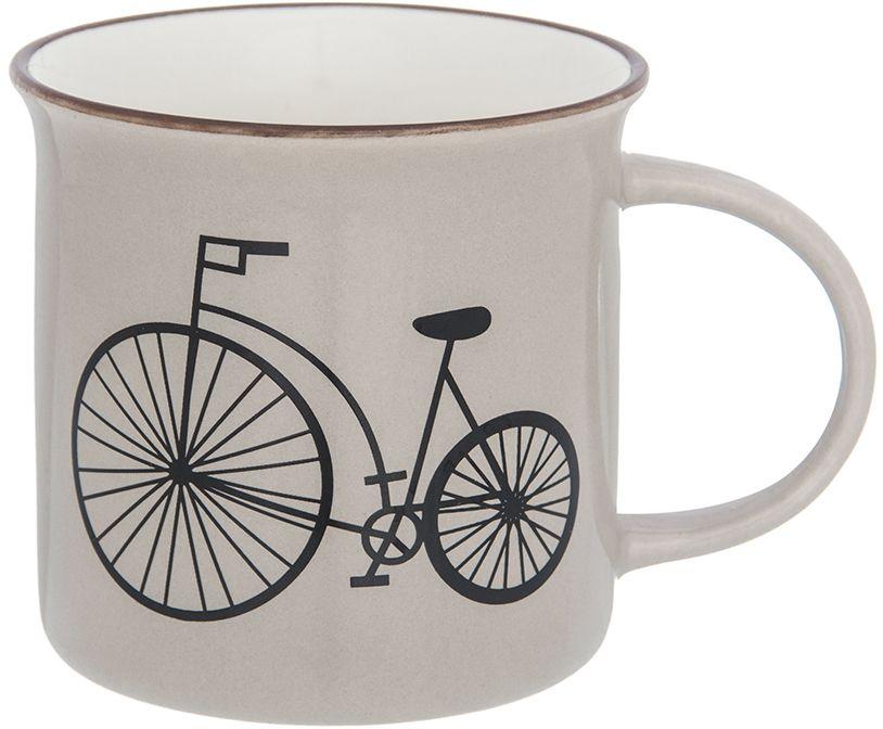 Кружка Elan Gallery Велосипед, цвет: капучино, 210 мл130017Фарфоровая кружка классической формы объемом 210 мл с удобной ручкой. Подходит для любых горячих и холодных напитков, чая, кофе, какао.