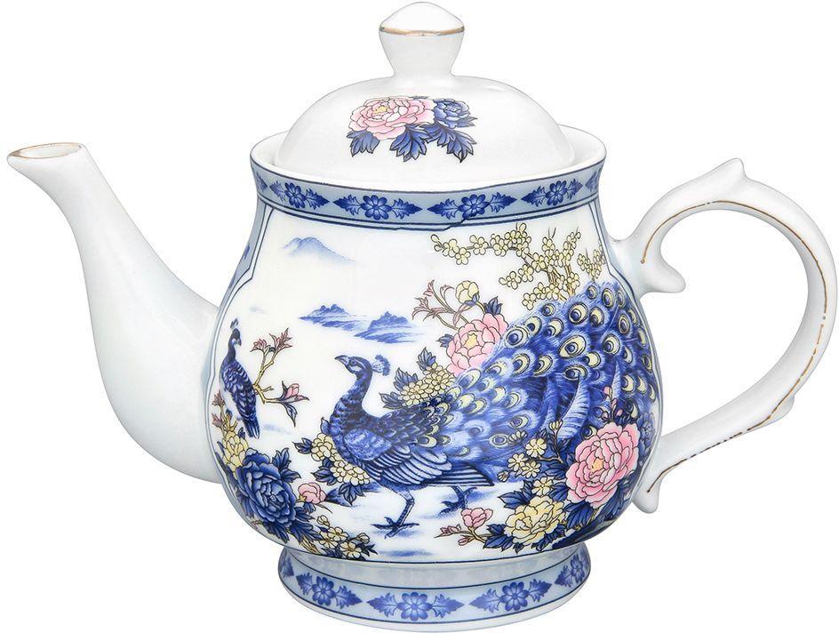 Чайник Elan Gallery Павлин на серебре , 430 мл180492Изысканный заварочный чайник украсит сервировку стола к чаепитию. Благодаря красивому утонченному дизайну и качеству исполнения он станет хорошим подарком друзьям и близким. Не рекомендуется применять абразивные моющие средства.
