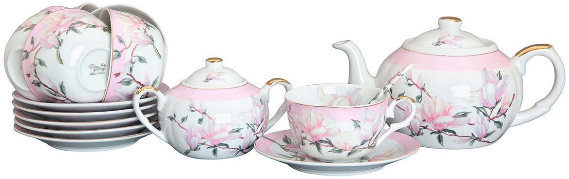 Набор чайный Elan Gallery Орхидея на розовом, 14 предметов180690Изысканный заварочный чайник украсит сервировку стола к чаепитию. Благодаря красивому утонченному дизайну и качеству исполнения он станет хорошим подарком друзьям и близким. Не рекомендуется применять абразивные моющие средства.