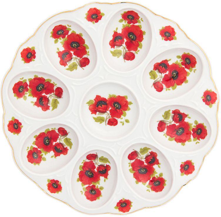 Тарелка для фаршированных яиц Elan Gallery Маки, 20 х 20 х 2 см181036Тарелка для фаршированных яиц Маки украсит ваш праздничный стол. На изделии имеются специальные углубления для 8 яиц.Такая тарелка украсит сервировку вашего стола и подчеркнет прекрасный вкус хозяйки. Изделие упаковано в подарочную коробку, поэтому станет желанным подарком для ваших близких!