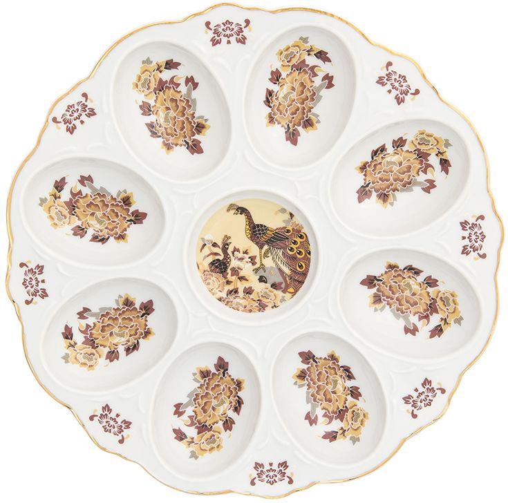 Тарелка для фаршированных яиц Elan Gallery Павлин на бежевом, 20 х 20 х 2 см181037Тарелка для фаршированных яиц Павлин на бежевом украсит ваш праздничный стол. На изделии имеются специальные углубления для 12 яиц. Такая тарелка украсит сервировку вашего стола и подчеркнет прекрасный вкус хозяйки. Изделие упаковано в подарочную коробку, поэтому станет желанным подарком для ваших близких!