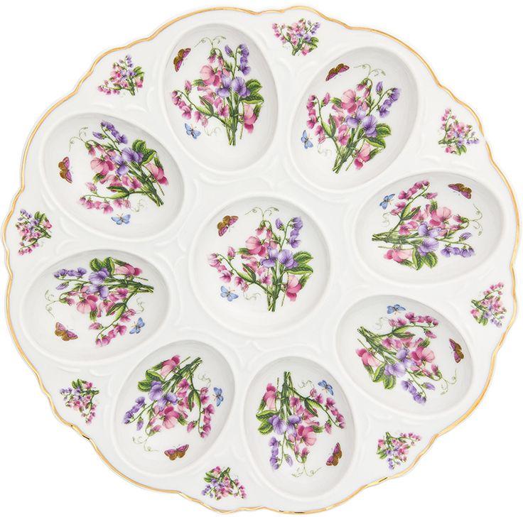 Тарелка для фаршированных яиц Elan Gallery Душистый горошек, 20 х 20 х 2 см181040Тарелка для фаршированных яиц Душистый горошек украсит ваш праздничный стол. На изделии имеются специальные углубления для 8 яиц.Такая тарелка украсит сервировку вашего стола и подчеркнет прекрасный вкус хозяйки. Изделие упаковано в подарочную коробку, поэтому станет желанным подарком для ваших близких!