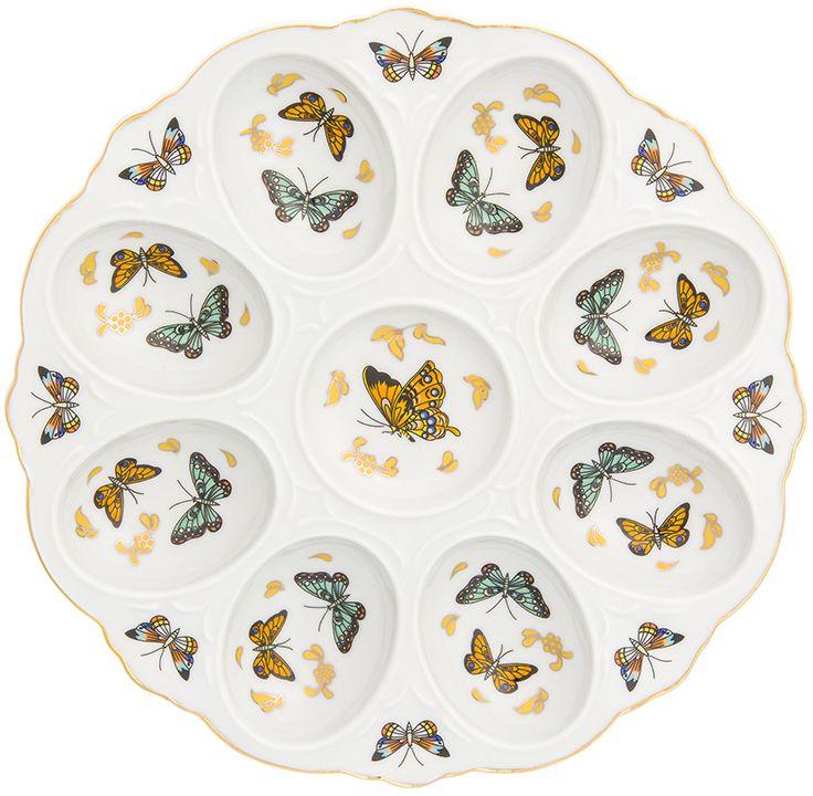 Тарелка для фаршированных яиц Elan Gallery Бабочки, 20 х 20 х 2 см181041Тарелка для фаршированных яиц Бабочки украсит ваш праздничный стол. На изделии имеются специальные углубления для 8 яиц.Такая тарелка украсит сервировку вашего стола и подчеркнет прекрасный вкус хозяйки. Изделие упаковано в подарочную коробку, поэтому станет желанным подарком для ваших близких!