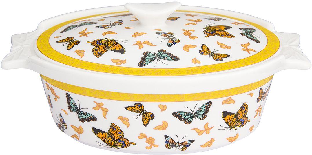 Блюдо для запекания Elan Gallery Бабочки, с крышкой, 20 х 13,5 х 9,5 см181069Овальное блюдо в классическом дизайне для запекания и сервировки украсит ваш праздничный стол. Оно дорого украшено орнаментом из бабочек. Блюдо имеет ручки для удобства переноса и дополнено комплектом из крышки для практичности хранения приготовленной пищи. Размер подходит и для подачи горячего, и для приготовления и хранения слоеных салатов.