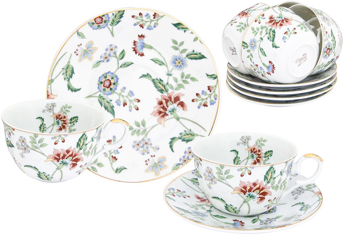 Набор чайный Elan Gallery Цветочный каприз, 12 предметов чайный сервиз 23 предмета на 6 персон bavaria кёльн b xw213y 23