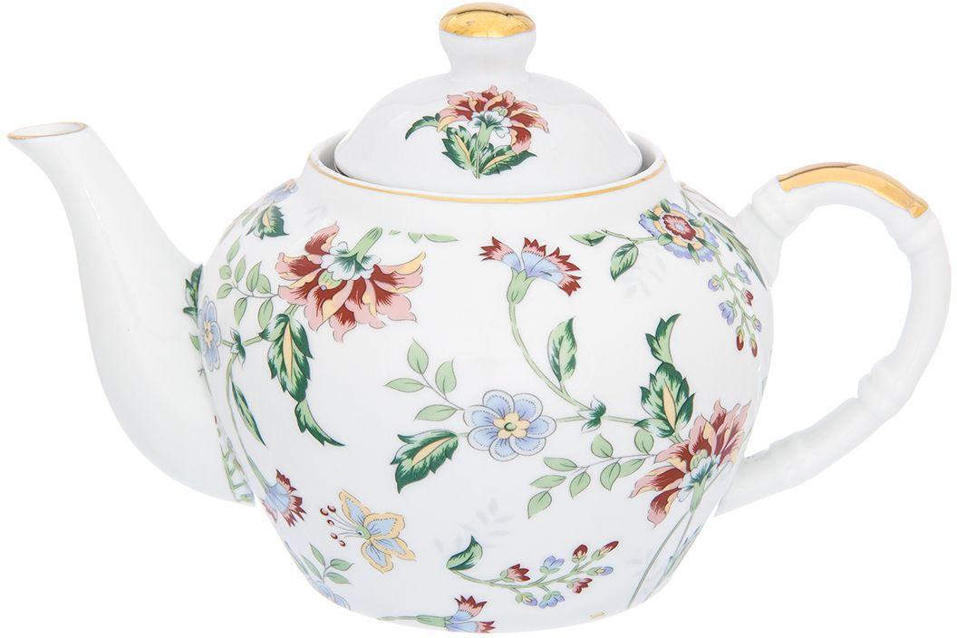 Изящный вместительный чайник объемом 700 мл с удобной ручкой и широким носиком. В основании носика сделаны фильтрующие отверстия от попадания чаинок в чашку.