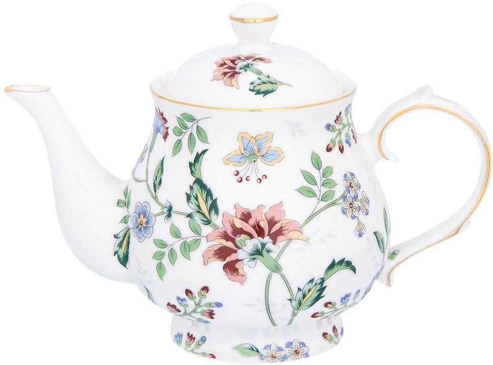 Чайник заварочный Elan Gallery Цветочный каприз, 450 мл181077Изящный вместительный чайник объемом 450 мл с удобной ручкой и широким носиком. В основании носика сделаны фильтрующие отверстия от попадания чаинок в чашку.