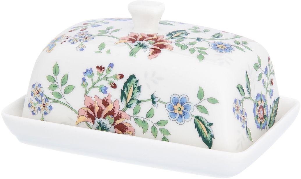 Масленка Elan Gallery Цветочный каприз, 13,5 х 9 х 8 см181095Великолепная масленка Elan Gallery Цветочный каприз, выполненная из высококачественной керамики, предназначена для красивой сервировки и хранения масла. Она состоит из подноса и крышки. Масло в ней долго остается свежим, а при хранении в холодильнике не впитывает посторонние запахи. Масленка Elan Gallery идеально подойдет для сервировки стола и станет отличным подарком к любому празднику.Не рекомендуется применять абразивные моющие средства. Не использовать в микроволновой печи.
