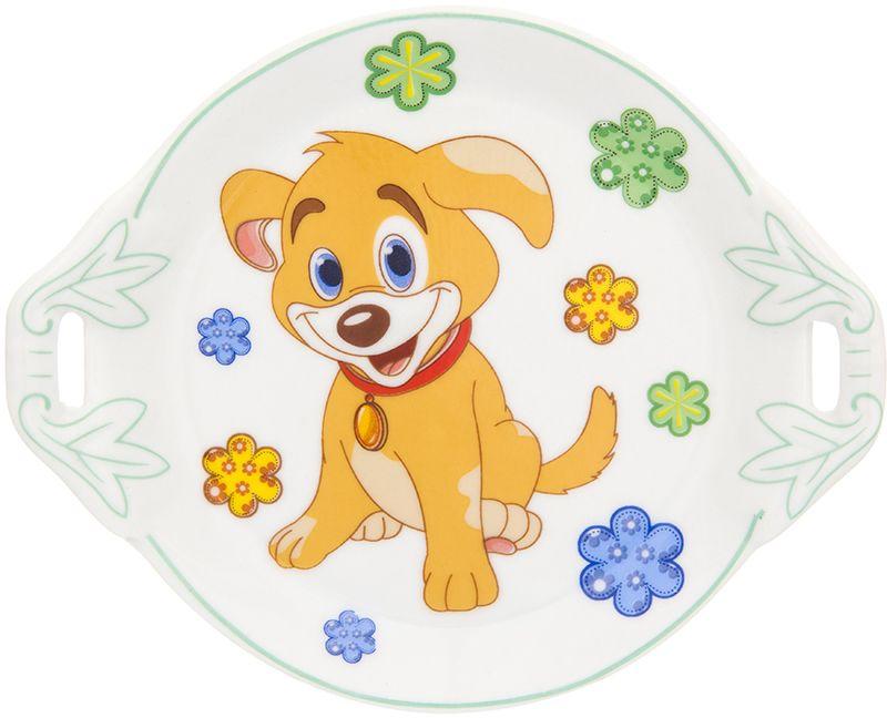 Тарелка под лимон Elan Gallery Щенок в цветах, 12,8 х 10,5 х 2 см181123Оригинальная круглая тарелка под лимон с символом наступающего года по восточному (китайскому) календарю – Желтой Земляной Собакой, которая весь год будет на страже вашего благополучия и придется по вкусу любой хозяйке.