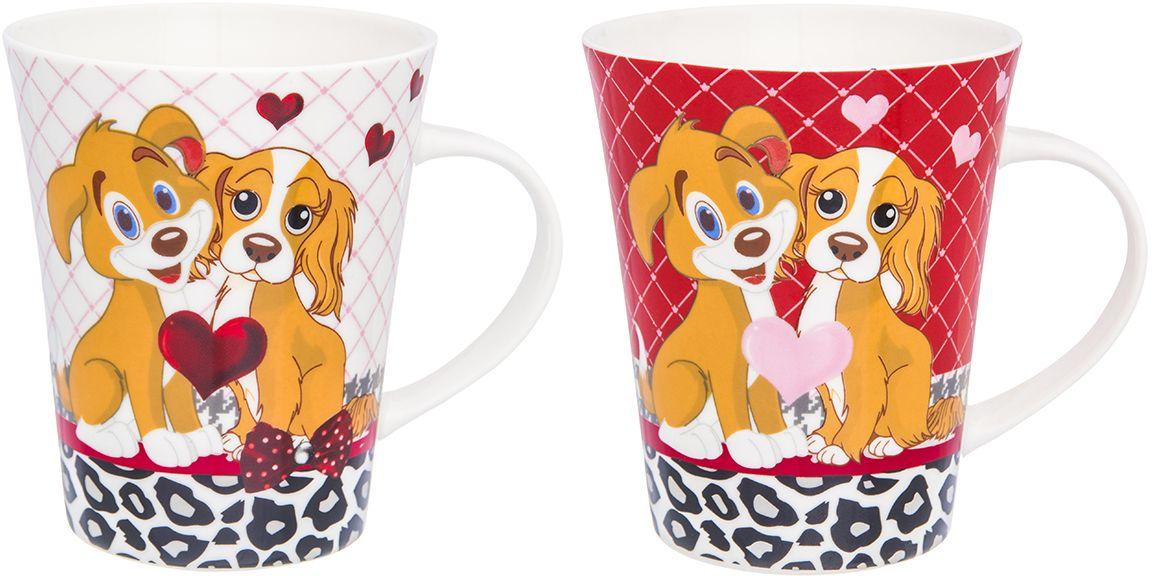 Набор кружек Elan Gallery Собаки любовь, 350 мл, 2 шт230138Набор кружек Собаки любовь с символом 2018 года объемом по 350 мл в подарочной упаковке станет прекрасным подарком и послужит верой и правдой в повседневной жизни. Изделие имеет подарочную упаковку, поэтому станет желанным подарком для ваших близких!