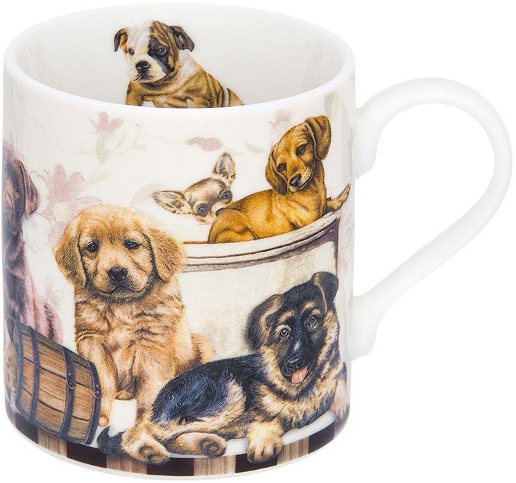 Кружка Elan Gallery Выставка собак, 250 мл260011Трогательная кружка объемом 250 мл в нежных тонах в подарочной упаковке с ленточкой! Идеальный подарок для взрослых и детей.