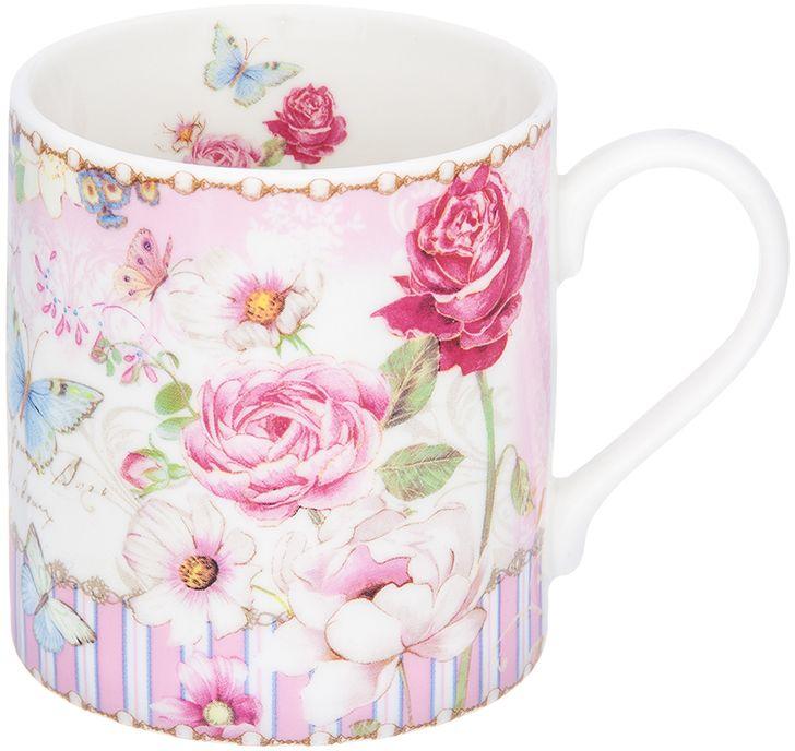 Кружка Elan Gallery Цветочная розовая нежность, 250 мл elan gallery кружка цветочная симфония на красном