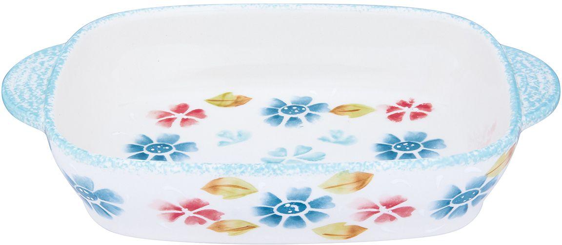 Блюдо для запекания и сервировки стола Elan Gallery  Васильковое настроение , 27 х 16,5 х 5,3 см - Посуда для приготовления