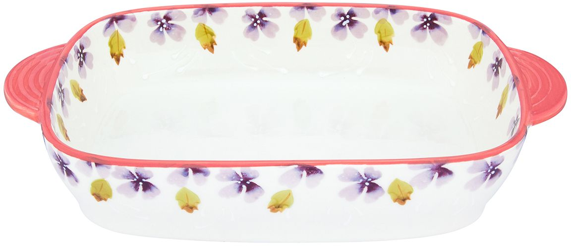 Блюдо для запекания и сервировки стола Elan Gallery Лавандовое настроение, 33 х 20 х 6 см310069Блюдо для запекания и сервировки украсит ваш праздничный стол. Размер этого блюда подходит и для подачи горячего, и для приготовления и хранения слоеных салатов. Блюдо имеет удобные ручки и декорировано узоромиз цветов.Форма: прямоугольная с закругленными краями.Размер: 330 х 200 х 60 мм.Объем: 1,98 л.