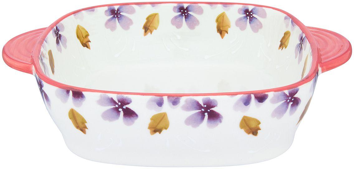 Блюдо для запекания и сервировки стола Elan Gallery  Лавандовое настроение , 25,5 х 20 х 6 см - Посуда для приготовления