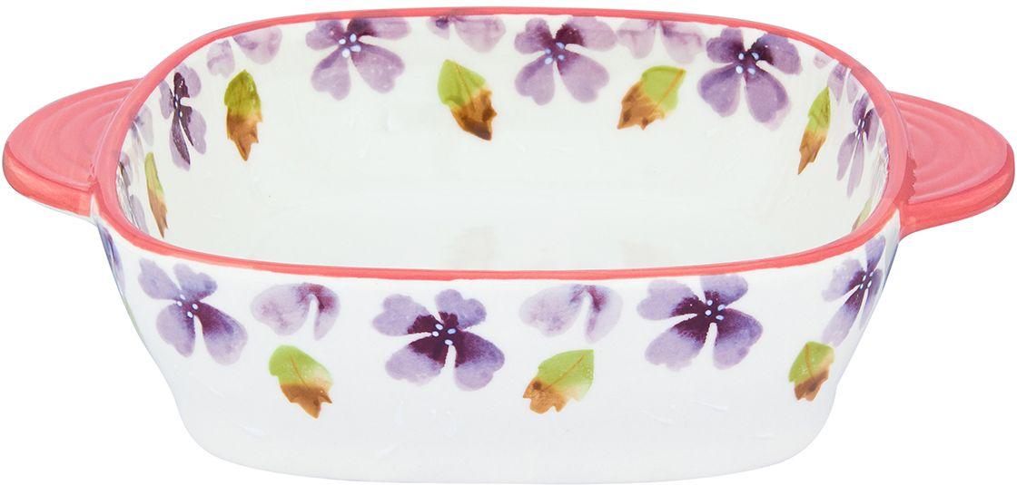 Блюдо для запекания и сервировки стола Elan Gallery  Лавандовое настроение , 22,5 х 17,5 х 5,5 см - Посуда для приготовления