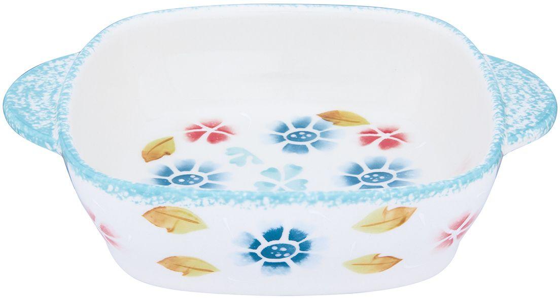 Блюдо для запекания и сервировки стола Elan Gallery  Васильковое настроение , 22,5 х 17,5 х 5,5 см - Посуда для приготовления