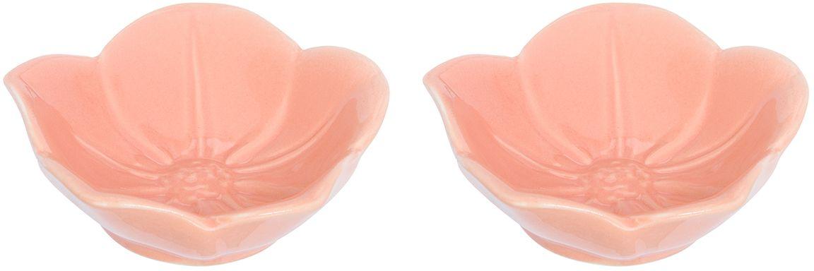 Розетка для варенья Elan Gallery Распустившийся цветок, цвет: персиковый, 10,5 х 10,5 х 3 см, 2 штCD677-JJ50900Красивые и вместительные розетки Elan Gallery из коллекции Распустившийся цветок подходят не только для сладких лакомств. Их можно использовать для орехов, оливок, каперсов, корнишонов и соусов. Выполнены из керамики.У вас намечается праздник, придет много гостей и надо сервировать большой стол - розетки идеальное дополнение для сервировки.Изделие имеет подарочную упаковку, идеальный подарок для ваших близких!