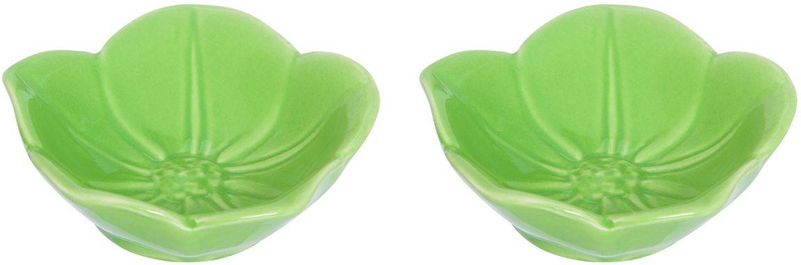Розетка для варенья Elan Gallery Распустившийся цветок, цвет: зеленый, 10,5 х 10,5 х 3 см, 2 шт380066Красивые и вместительные розетки Elan Gallery из коллекции Распустившийся цветок для варенья подходят не только для сладких лакомств. Их можно использовать для орехов, оливок, каперсов, корнишонов и соусов. Выполнены из керамики.У вас намечается праздник, придет много гостей и надо сервировать большой стол - розетки идеальное дополнение для сервировки.Изделие имеет подарочную упаковку, идеальный подарок для ваших близких!