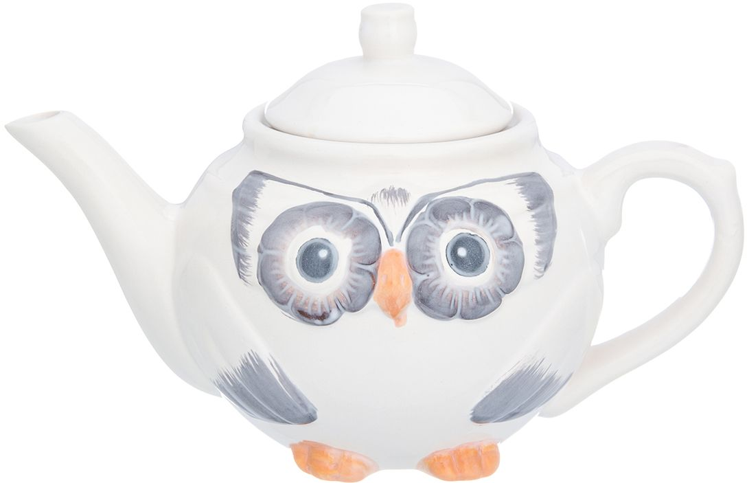 Чайник Elan Gallery Сова, 650 мл380084Изящный вместительный чайник объемом 600 мл удобной ручкой и широким носиком.В основании носика сделаны фильтрующие отверстия от попадания чаинок в чашку. Изделие имеет подарочную упаковку.