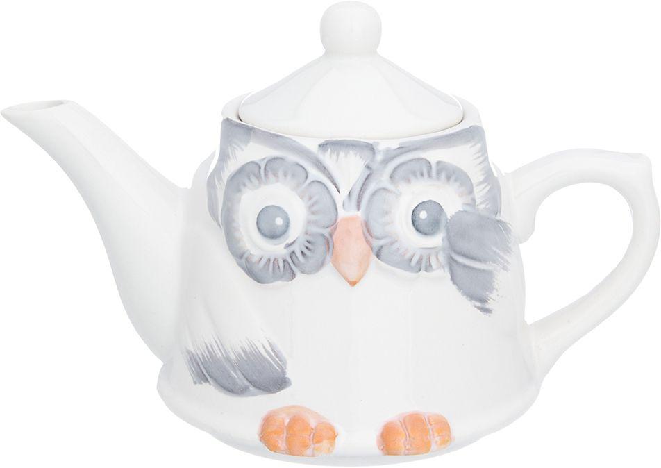 Чайник Elan Gallery Сова, 450 мл380085Изящный вместительный чайник объемом 450 мл удобной ручкой и широким носиком.В основании носика сделаны фильтрующие отверстия от попадания чаинок в чашку. Изделие имеет подарочную упаковку.