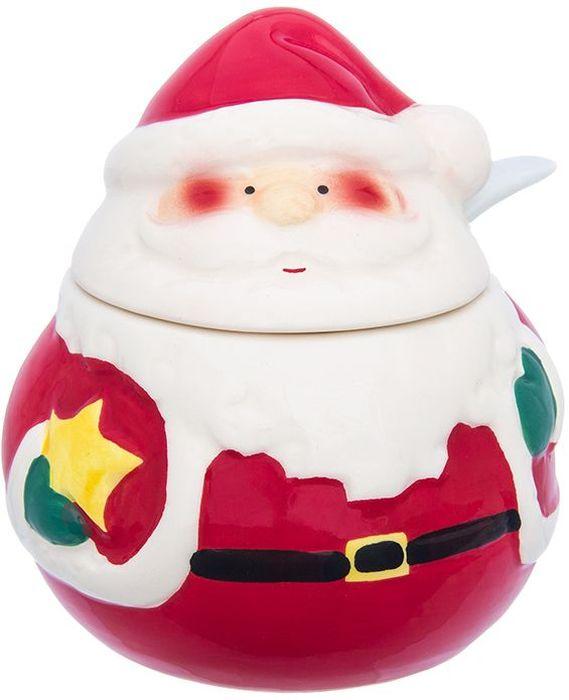 Баночка для специй Elan Gallery Дед Мороз, 9,3 х 9,3 х 10,4 см380097Необычный набор под специи в форме Деда Мороза будет уместен на праздничном столе и на любой кухне и поможет разнообразить сервировку стола, сделав ее интереснее!