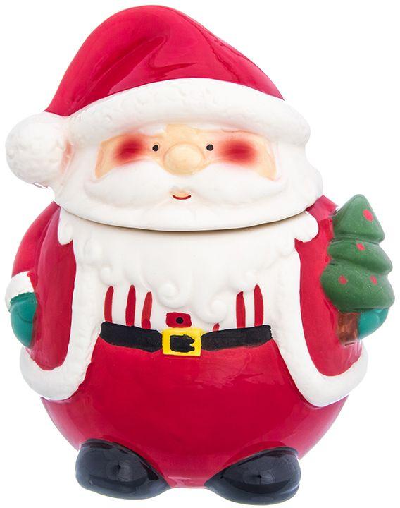 Банка для печенья/конфет Elan Gallery Дед Мороз, 17 х 15,5 х 20 см380098Банка для печенья Дед Мороз - удобный предмет для хранения сладостей в оригинальном исполнении. Дополнит облик вашей кухни и прекрасно впишется в интерьер. Станет отличным подарком для любой хозяйки. Объем 1500 мл.