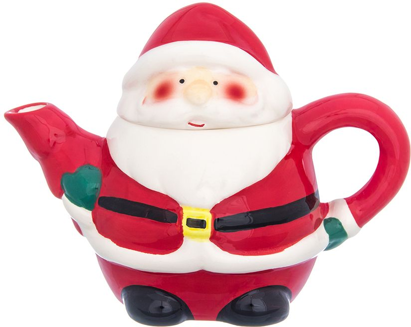 """Оригинальный чайник """"Дед Мороз"""" объемом 300 мл станет украшением вашего праздничного стола! Изделие имеет подарочную упаковку, поэтому станет желанным подарком для ваших близких!"""
